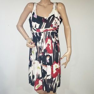 Elie Tahari Floral Sleeveles Dress Size 14